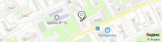 Продукты на Маланова на карте Ярославля