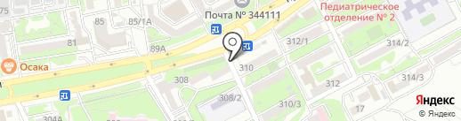 Сад Базар на карте Ростова-на-Дону