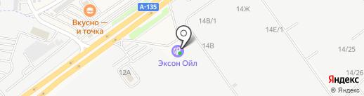 АЗС Эксон-Ойл на карте Аксая