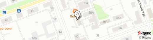 Автомобилист на карте Северодвинска