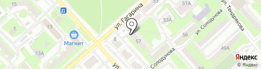 Флагман на карте Вологды