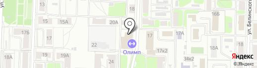 Олимп фитнес на карте Ярославля
