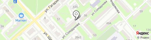 В двух шагах на карте Вологды
