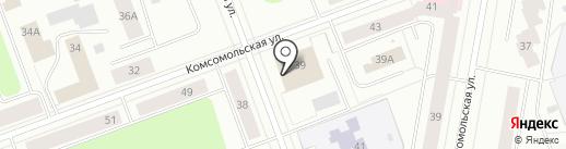 Семейная парикмахерская на карте Северодвинска