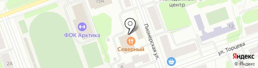 Эриван на карте Северодвинска