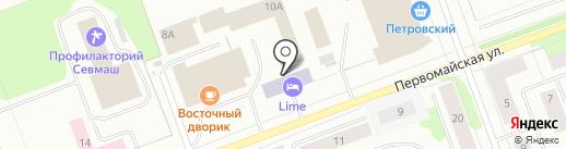 АвтоСтиль на карте Северодвинска