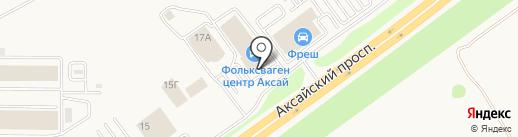 Гедон-Аксай на карте Аксая