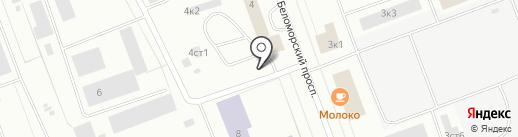 Шиномонтажная мастерская на Беломорском проспекте на карте Северодвинска