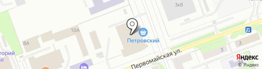 Банкомат, Московский Индустриальный Банк на карте Северодвинска