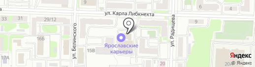 Волжанин на карте Ярославля