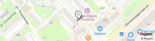 Аврора на карте Вологды
