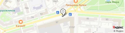Бизнес-центр на Полиграфической на карте Ярославля