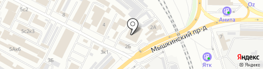 Немецкий Дом на карте Ярославля