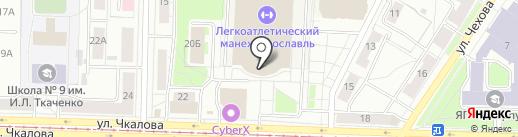 Фитнес Формула на карте Ярославля