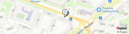 Пчеловодство, ЗАО на карте Ярославля