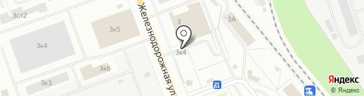 Продовольственный магазин на Железнодорожной на карте Северодвинска