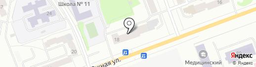 Почтовое отделение связи №21 на карте Северодвинска