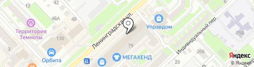 Роникон на карте Вологды