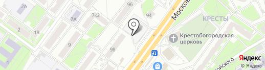 Киоск по продаже фруктов и овощей на карте Ярославля