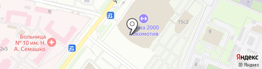 ДЮСШ №13 на карте Ярославля