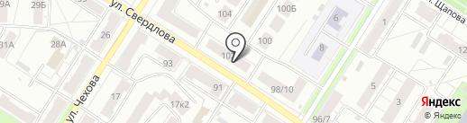 Арабеско на карте Ярославля