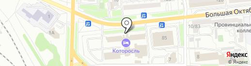 Саквояж на карте Ярославля
