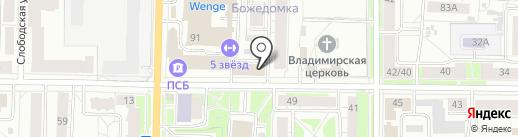 Вента на карте Ярославля
