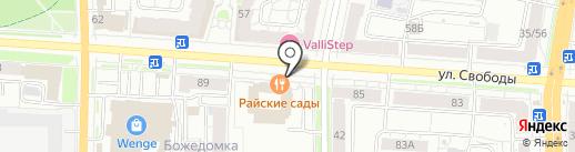 Либерта на карте Ярославля