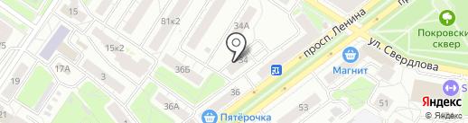Ампернет на карте Ярославля