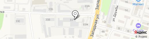 Автомойка грузовых автомобилей на карте Аксая