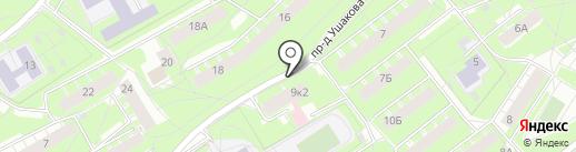 Галатея на карте Ярославля