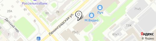 Совёнок на карте Вологды