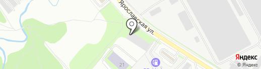 Чистюля на карте Вологды