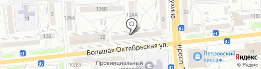 Киндертин на карте Ярославля