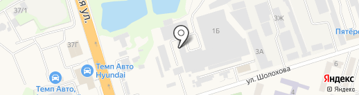 Миленд на карте Аксая