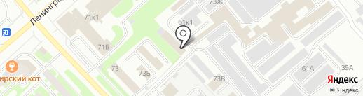 Транспортная компания на карте Вологды