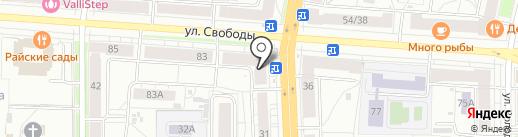 Трика на карте Ярославля