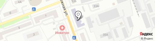 Техникум строительства на карте Северодвинска