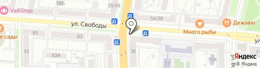 Лазаревское на карте Ярославля