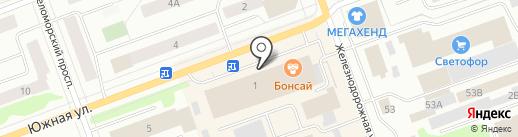 Автоподарок на карте Северодвинска