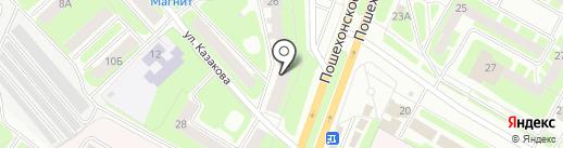 Адамант на карте Вологды