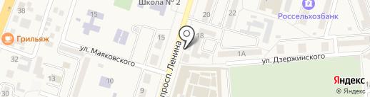 Мястроном на карте Аксая