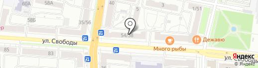 Банкомат, Банк Уралсиб, ПАО на карте Ярославля