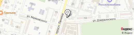 Заря, ТСЖ на карте Аксая