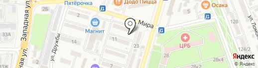 Велодрайв на карте Аксая