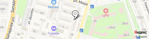 Банкомат, Московский Индустриальный банк на карте Аксая