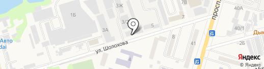 Бакром на карте Аксая