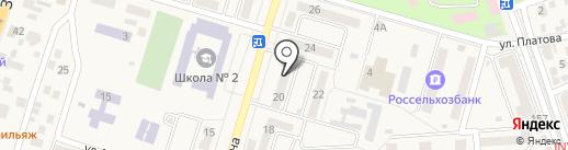 ЛЕНА-ОРТО на карте Аксая