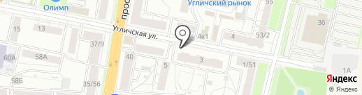 Эксперт Недвижимость на карте Ярославля