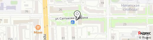 Строймир на карте Ярославля